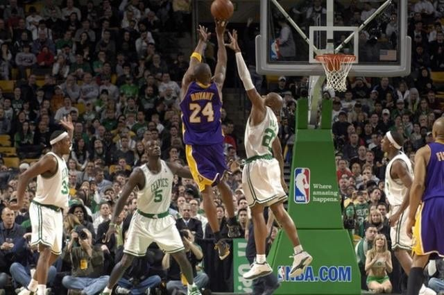 Kobe Bryant, Ray Allen, Lakers, Celtics
