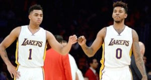 D'Angelo Russell Nick Young Lakers