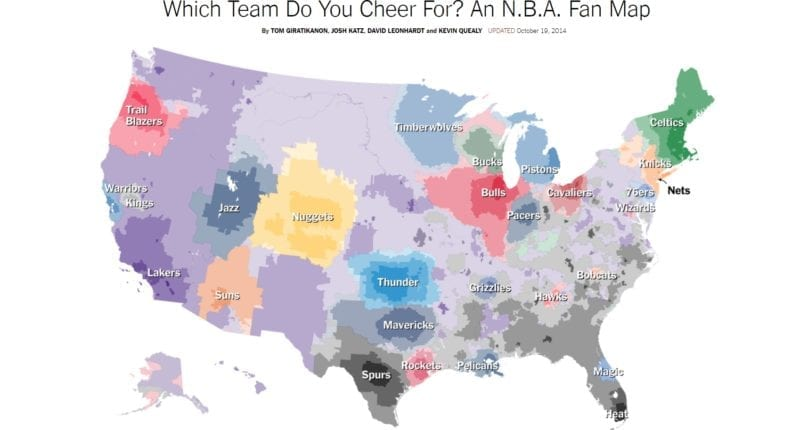 Interactive Fan Map