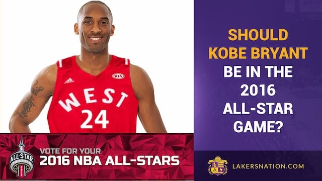 Kobe Bryant, 2016 Nba-all Star Game Voting (video)