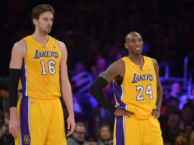 Lakers News: Pau Gasol Calls Kobe Bryant 'one Of The Greatest'