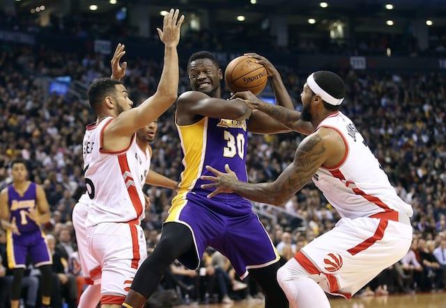 Game Recap: Lakers Swept By Raptors Despite Julius Randle's Double-double