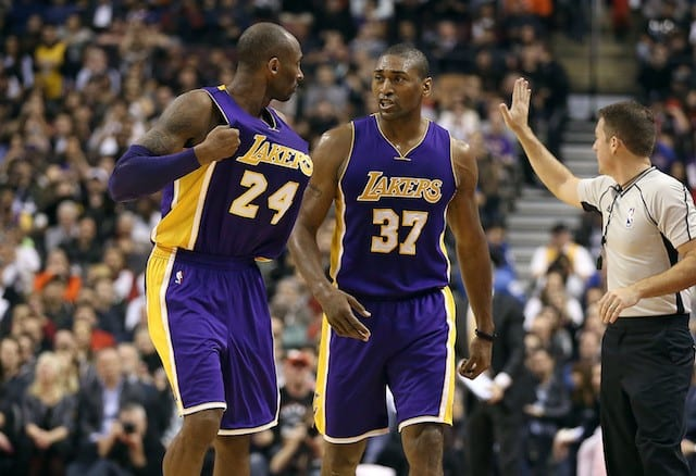 Kobe Bryant and Metta World Peace