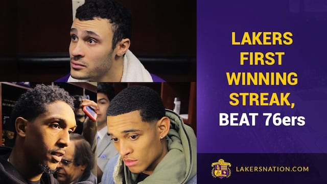 Los Angeles Lakers Vs. Philadelphia 76ers Postgame (videos)
