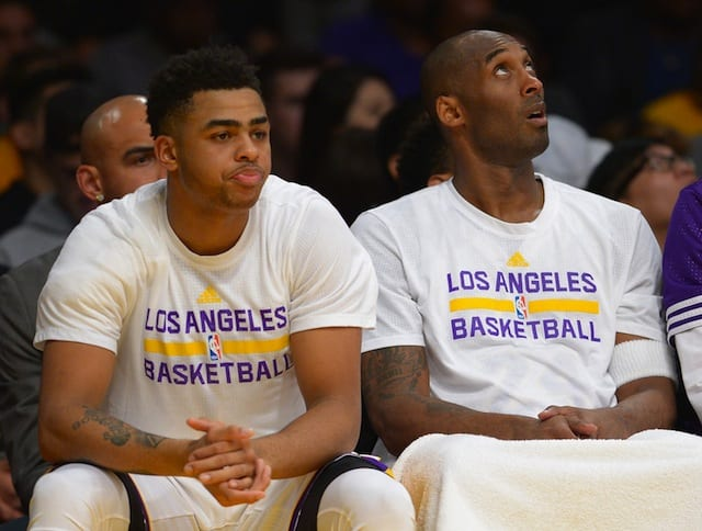 Lakers News: Kobe Bryant, D'angelo Russell Questionable Vs. Warriors