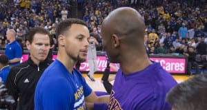 Stephen Curry and Kobe Bryant