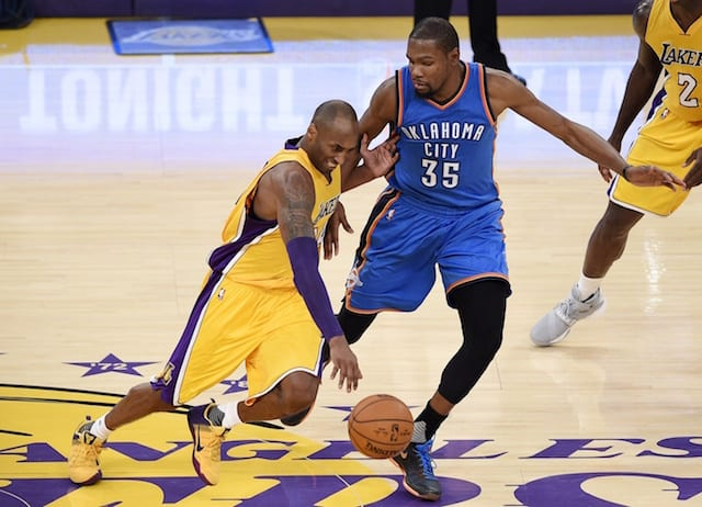 Kevin Durant Names Kobe Bryant As Toughest Player To Defend