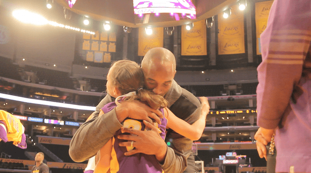Kobe Bryant Surprises Young Girl Diagnosed With Cerebral Palsy