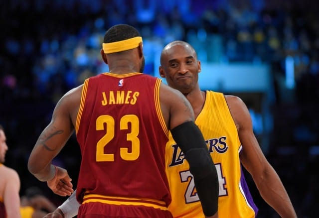 Kobe Bryant LeBron James Lakers Cavaliers