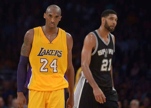 Kobe Bryant, Tim Duncan, Lakers, Spurs