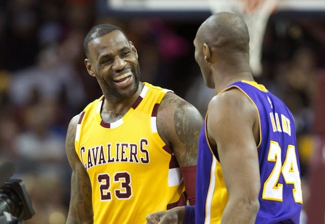 LeBron James and Kobe Bryant, Lakers, Cavaliers