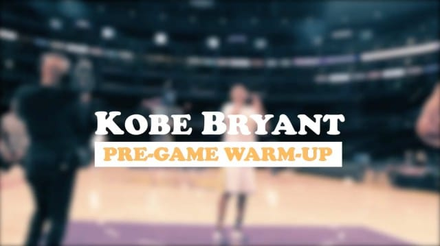 Lakers Video: Kobe Bryant's Pre-game Routine