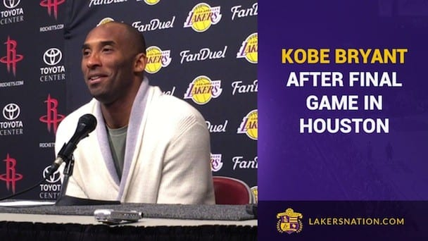 Kobe Bryant Talks Warriors, James Harden, Hakeem Olajuwon (video)