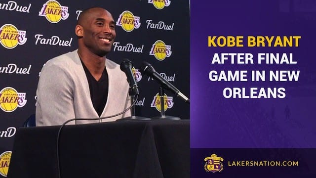 Kobe Bryant After His Final Game In New Orleans (video)