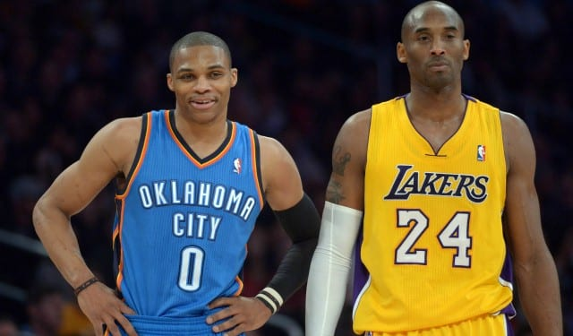 huge selection of 83e19 6be1c Kobe Bryant Says Russell Westbrook Reminds Him Most Of Himself