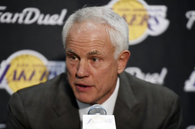 Lakers Gm Mitch Kupchak Says Team Could End Up Trading Draft Pick