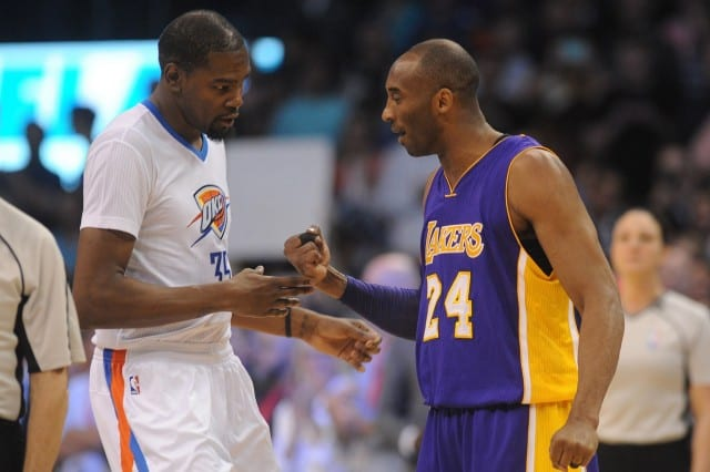 Kobe Bryant and Kevin Durant, Lakers