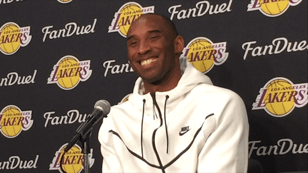 Kobe Bryant After His Final Nba Road Game Of His Career (videos)