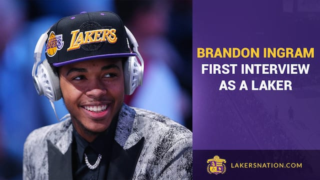 Brandon Ingram's First Interview As A Laker (audio)
