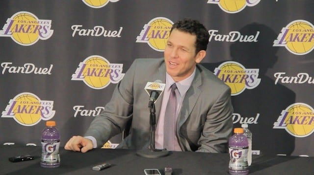 Luke Walton's Press Conference As New Lakers Head Coach (video)