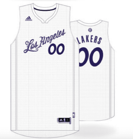 in stock fa329 2c75a los angeles lakers christmas jersey
