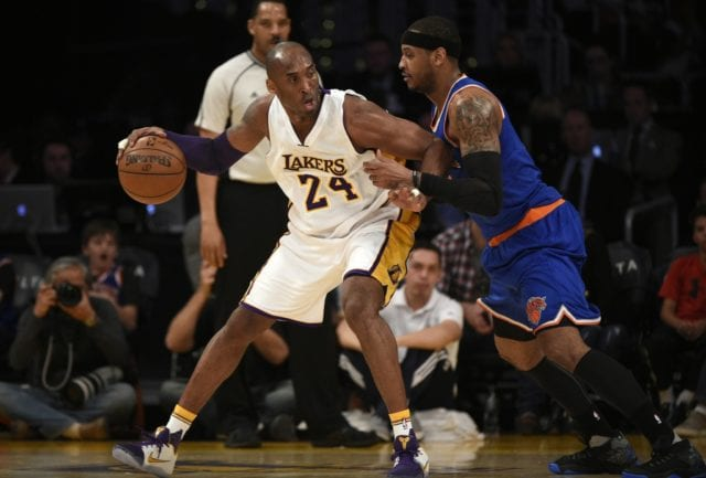 Carmelo Anthony Pays Respect To Lakers Legend Kobe Bryant On Twitter