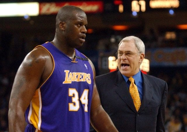 Shaquille O'Neal and Phil Jackson