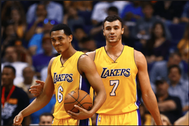 Jordan Clarkson Larry Nance Jr Lakers