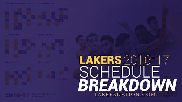 Video: Lakers 2016-2017 Season Schedule Breakdown