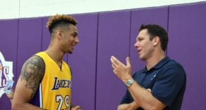 Zach Auguste and Luke Walton