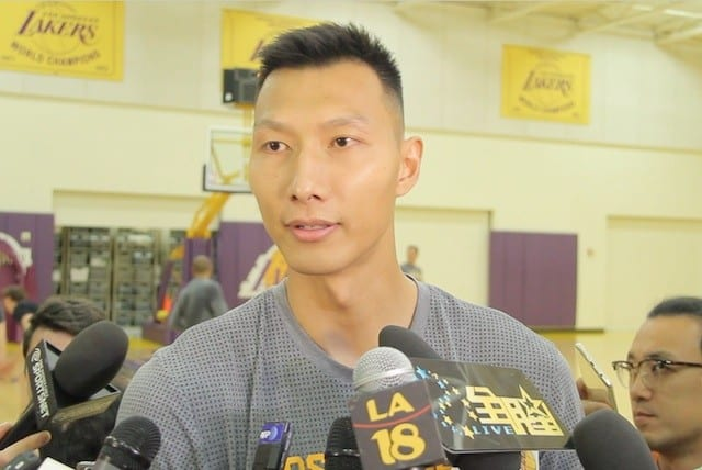 Video: Yi Jianlian Talks Lakers Brand, Luke Walton, Nba Return