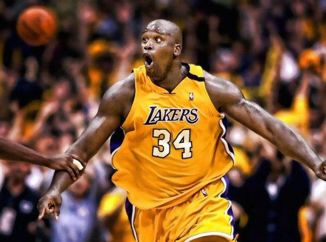 Image result for shaquille o-neal lakers