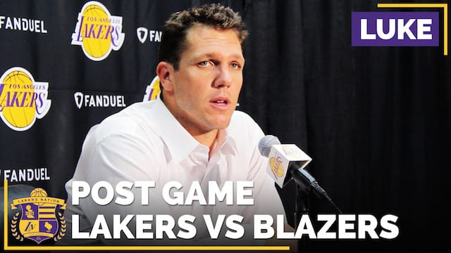 Los Angeles Lakers Vs. Portland Trail Blazers Postgame (videos)
