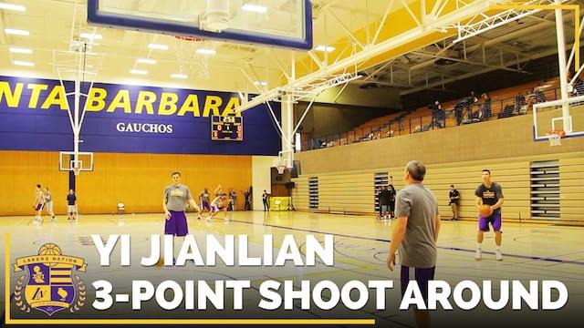 Video: Yi Jianlian Showing Off His Three-point Range