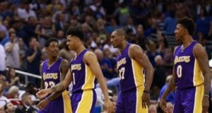 Lou Williams, Nick Young, Metta World Peace, D'Angelo Russell Lakers