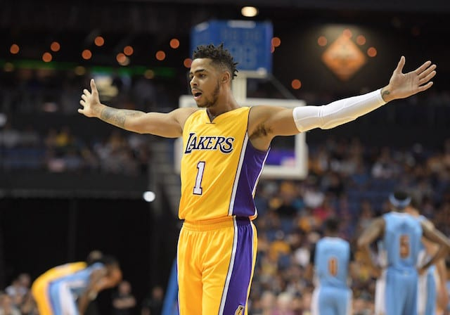 Luke Walton Makes Comparison Between D'Angelo Russell, Stephen Curry