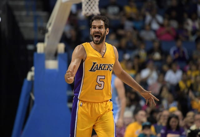 Lakers News: Luke Walton Says Jose Calderon Is Out For Season Opener