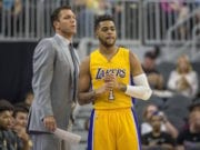 D'Angelo Russell Luke Walton Lakers