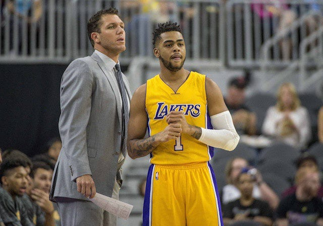 D'Angelo Russell Luke Walton Lakers