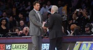 Luke Walton, Gregg Popovich Lakers