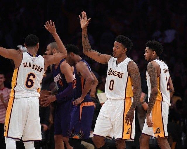 Nick Young, Jordan Clarkson Lakers