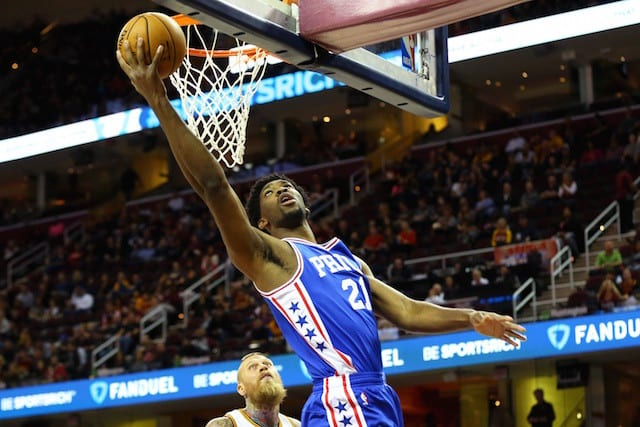 Nba Rookie Watch: Joel Embiid Ahead Of The Pack