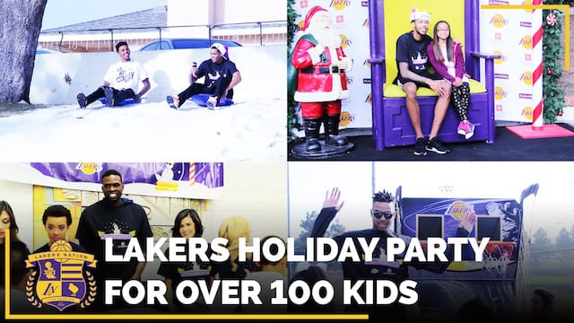 Lakers Holiday Party: Snowball Fights, Sledding And Fun!