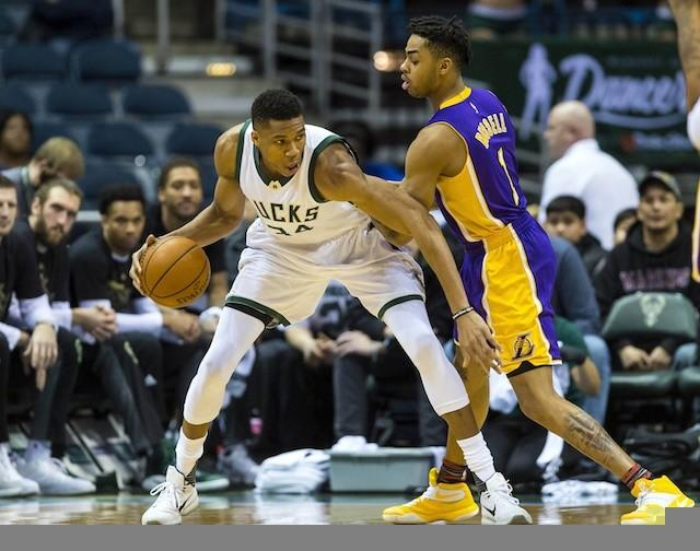 Giannis Antetokounmpo, D'Angelo Russell, Lakers, Bucks