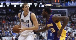 Dirk Nowtizki Tarik Black Lakers Mavericks
