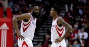 James Harden, Lou Williams, Rockets