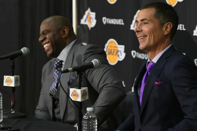 Magic Johnson Rob Pelinka