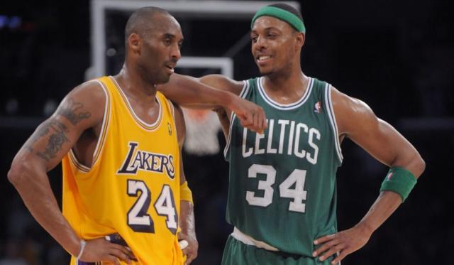 Kobe Bryant Paul Pierce Lakers Celtics