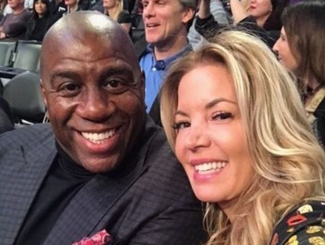 Magic Johnson Jeanie Buss Lakers