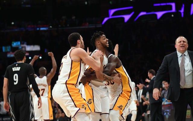 D'Angelo Russell Larry Nance Jr. Julius Randle Lakers